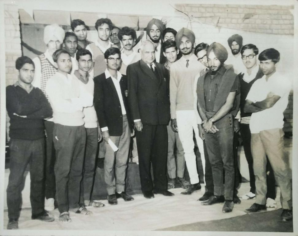 Competition Winners with KUK Vice Chancellor Sh. D.C. Verma (1969)
